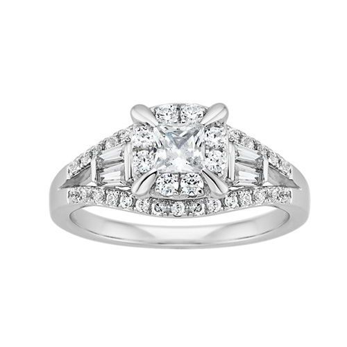 14K White Gold 1 ct Diamond Engagement Ring