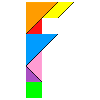 Tangram Letter F Tangram Solution 95 Providing Teachers And