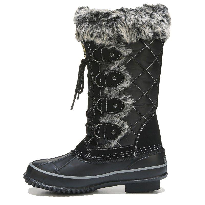 Khombu Women s Jandice Weather Resistant Lace Up Winter Boots (Black) -  10.0 M 0d3ea3d6b