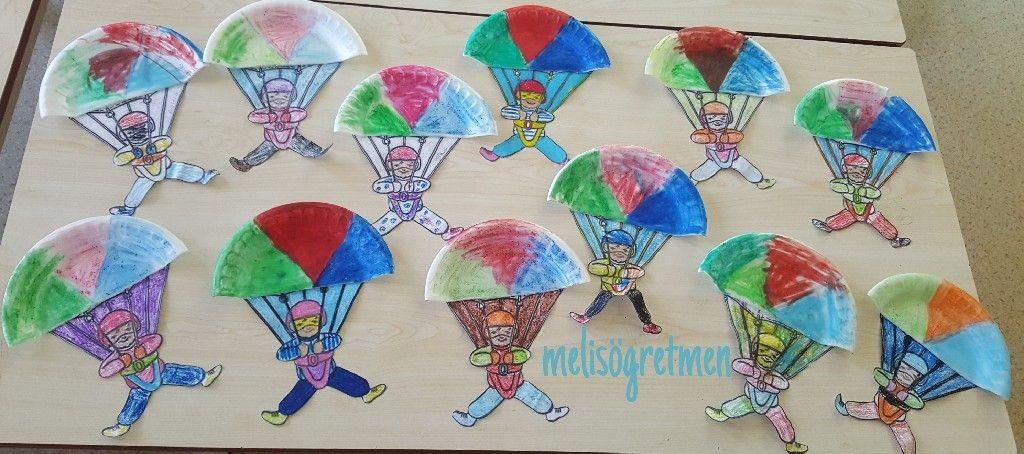 Paraşüt Etkinliği Tabak Okuloncesi Pinterest