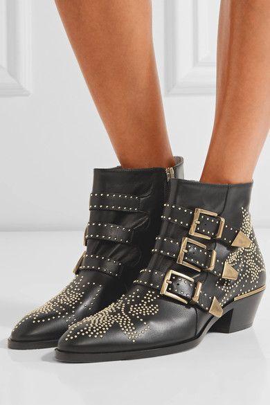 89b5833a712 CHLOÉ Susanna charming studded leather ankle boots in 2019 | CHLOÉ ...