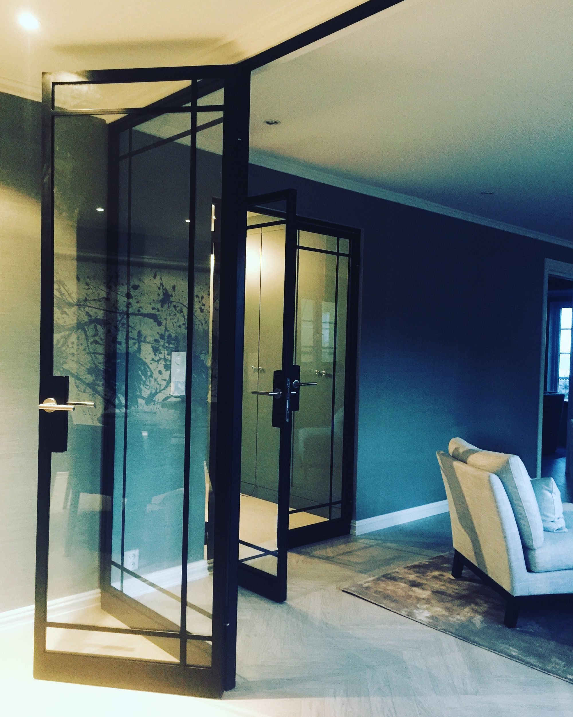 Modern double french doors and french doors with fixed glass…