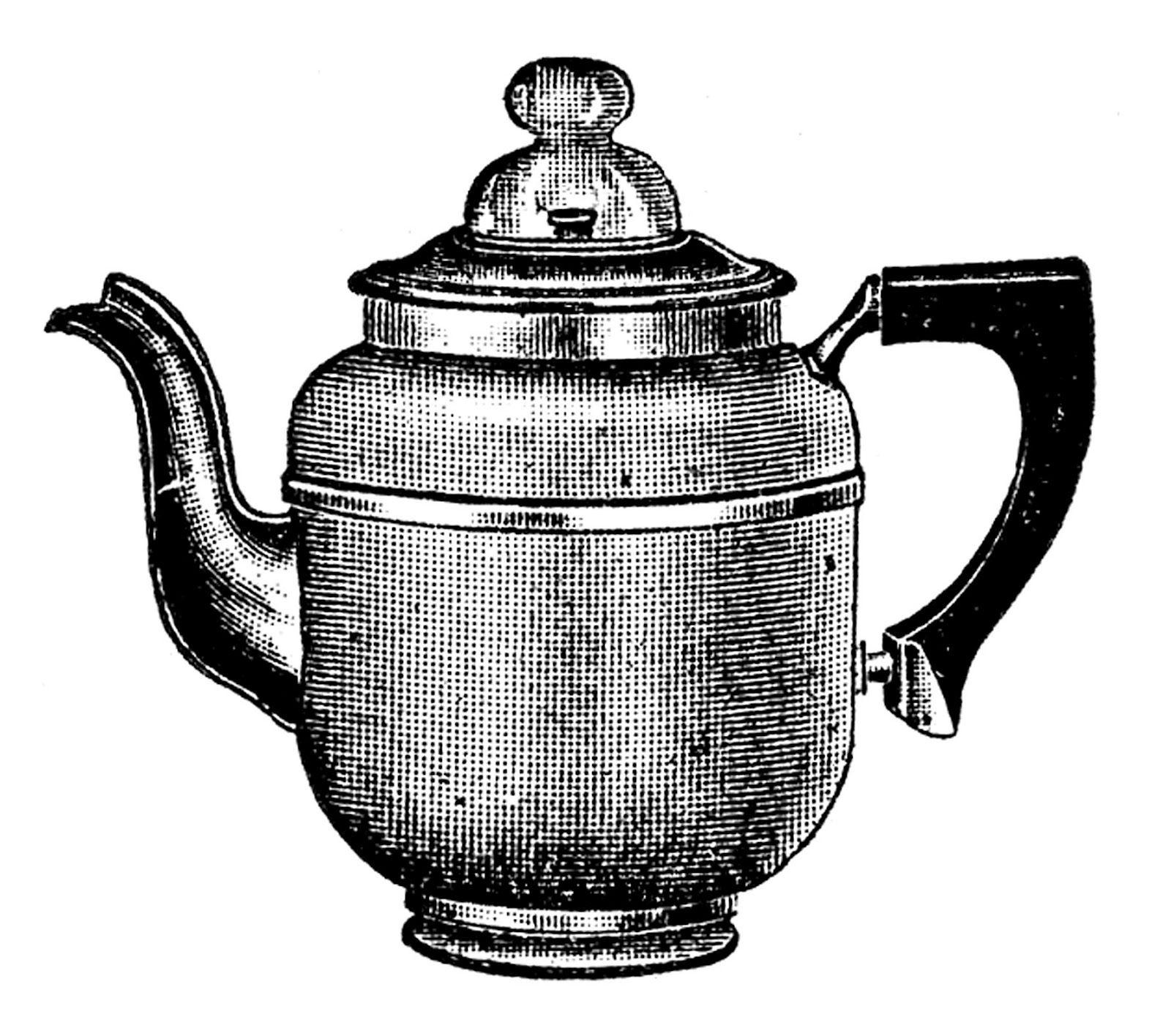 Kitchen Center Clip Art: Tea Kettle And Coffee Pots