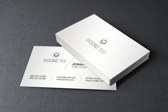 Minimal business card by orcshape on creativemarket design minimal business card by orcshape on creativemarket reheart Images