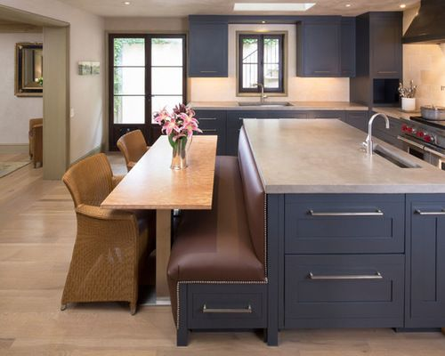 Island Table Combo Kitchen Design Ideas Remodels Photos Kitchen Island With Bench Seating Kitchen Seating Kitchen Island With Seating