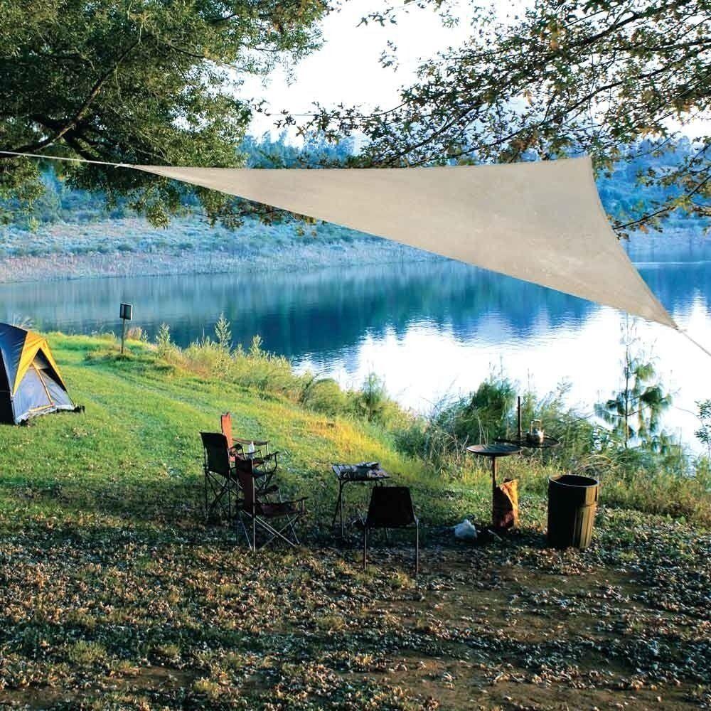 Petite Coolaroo Ready To Hang Triangle Shadesail Pebble