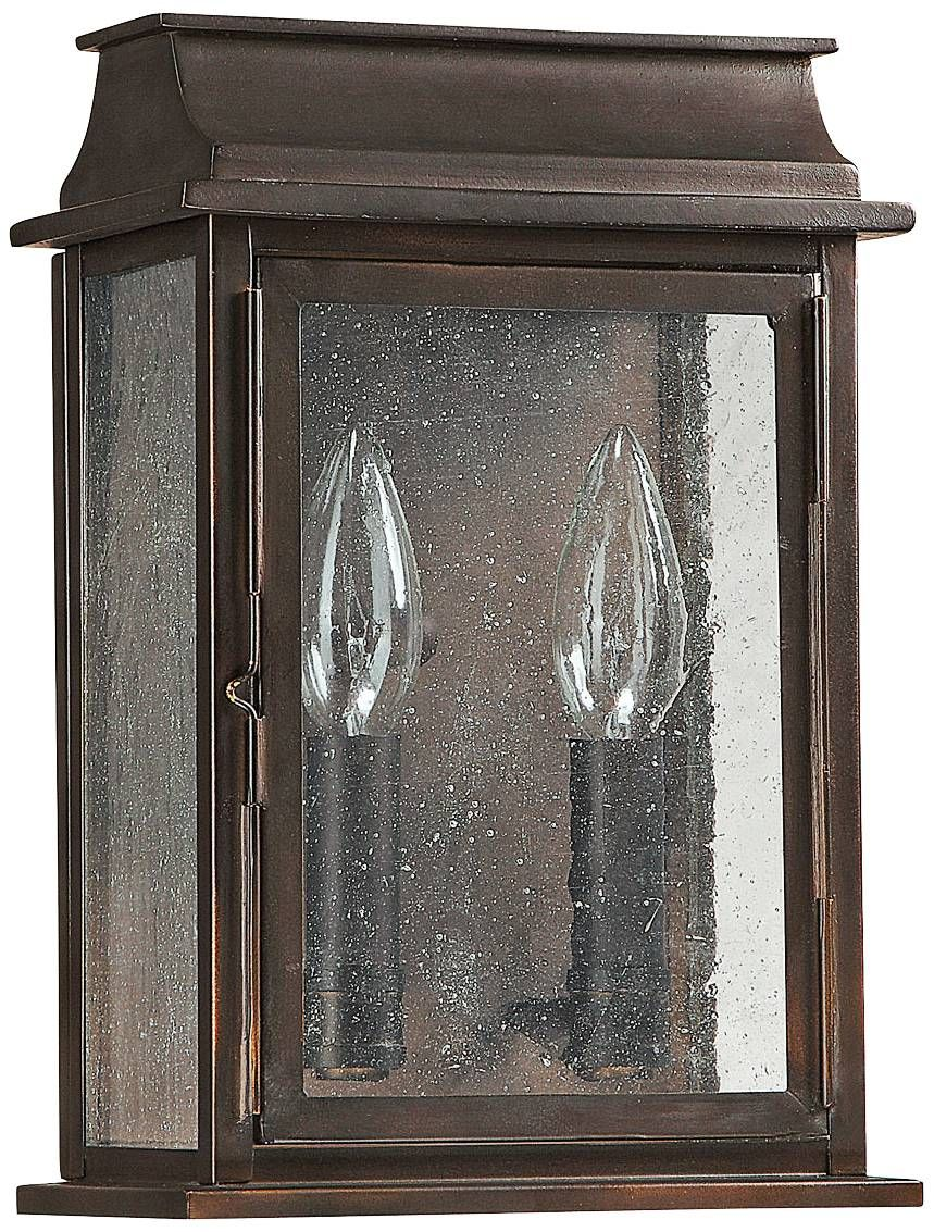 """capital bolton 11"""" high old bronze outdoor wall light"""