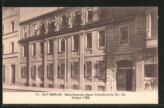 Naturforscher-Haus.. Französische Straße 29