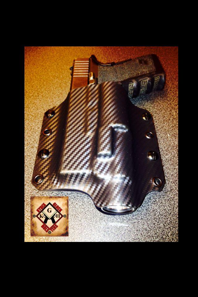 OWB left hand super concealment rig  Glock 23 TLR-1 by Kydex Glock