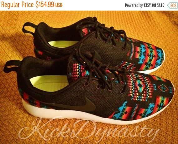 3b6e0514a7dd 15% OFF SALE Tribal Aztec Nike Roshe Run Custom by KickDynasty ...