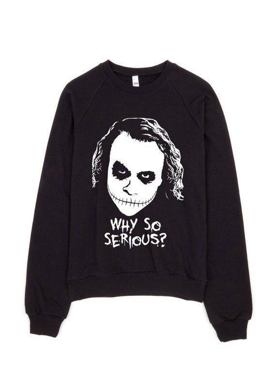 c18ba706 Halloween Sweater, The Joker Sweatshirt, Heath Ledger Joker, Why So Serious  Clothing, Halloween Gift