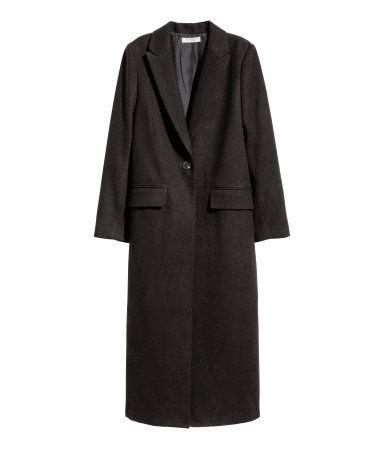 Langer mantel schwarz damen