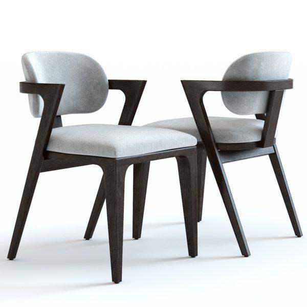 3D Model / West Elm / Adam Court Dining Chair In 2019