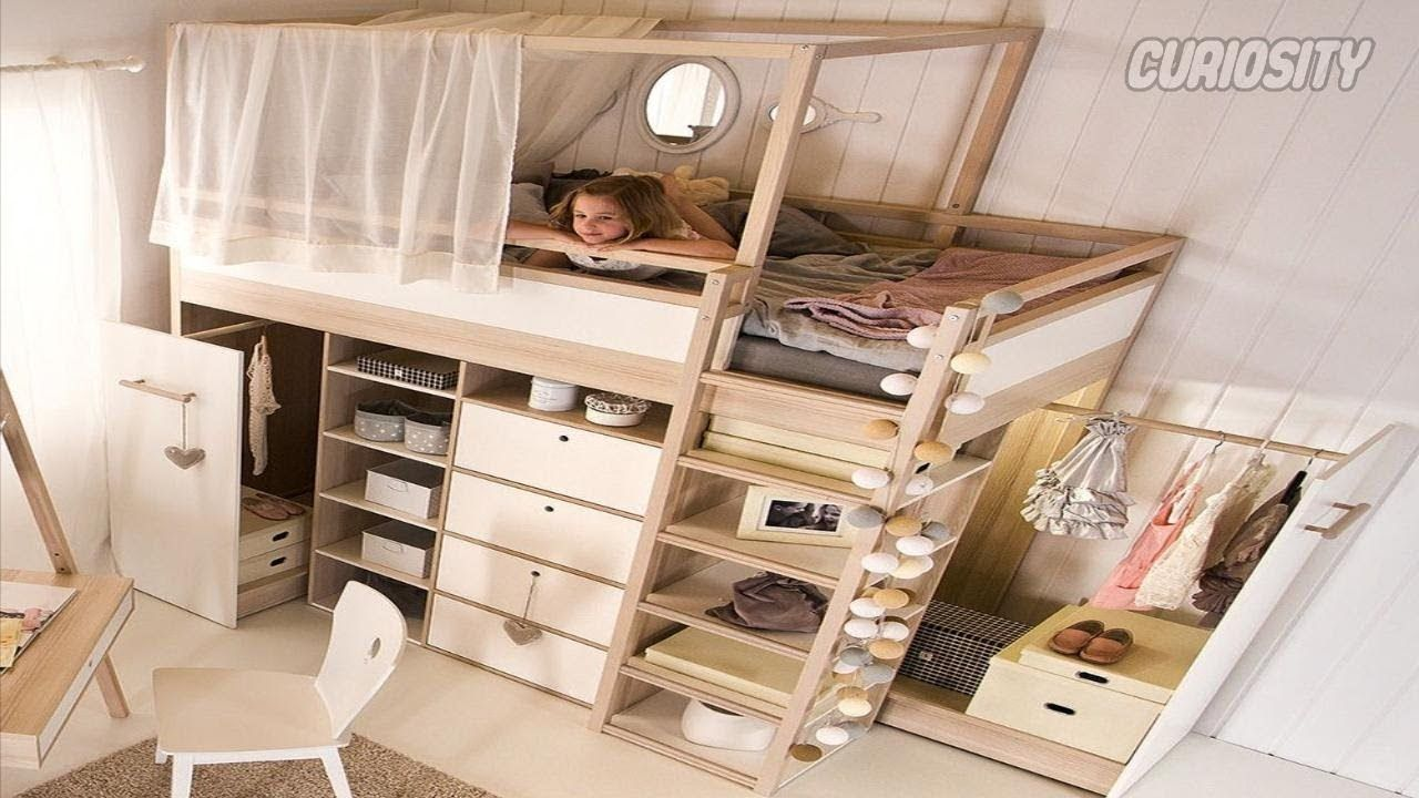 Incredible Bedrooms In Small Spaces Space Saving Furniture Youtube Kid Beds Space Saving Beds Kids Bunk Beds