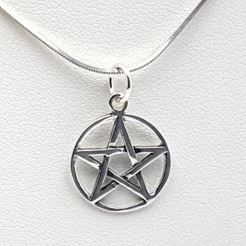 Colgante Estrella 5 Puntas Pentagrama Fabricado En Plata De Ley 925 Mls Colgantes De Plata Pentagramas Colgantes