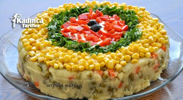 Pasta Görünümlü Patates Salatası Enfes Yemek Tarifleri
