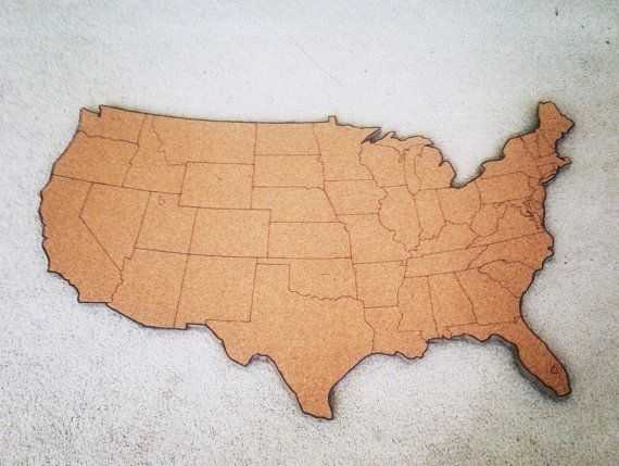 Us Map On Cork Board.Large United States Corkboard Map Usa Cork Map Pin Board Gifts For