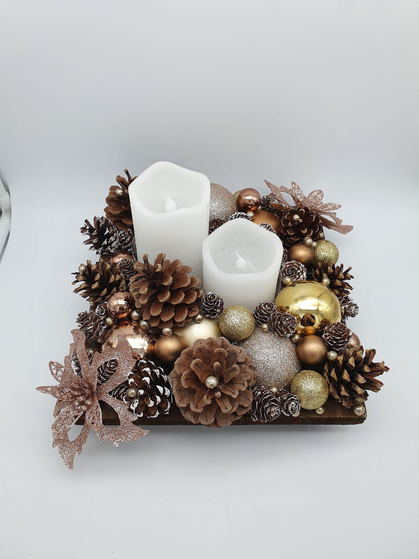Centre de table Noël - Jour de l'an / décoration de table ou autre avec Bougie à piles
