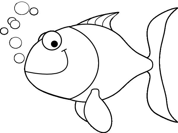 outline of fish | Fish Outline clip art | Fish outline ...