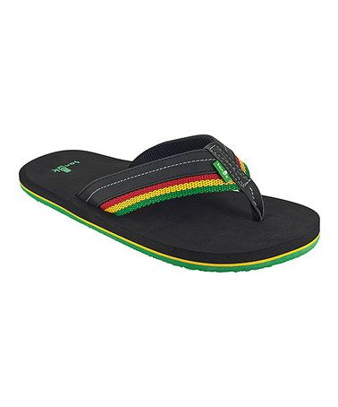 Take a look at this Rasta Chase Flip-Flop - Men by Sanuk on #