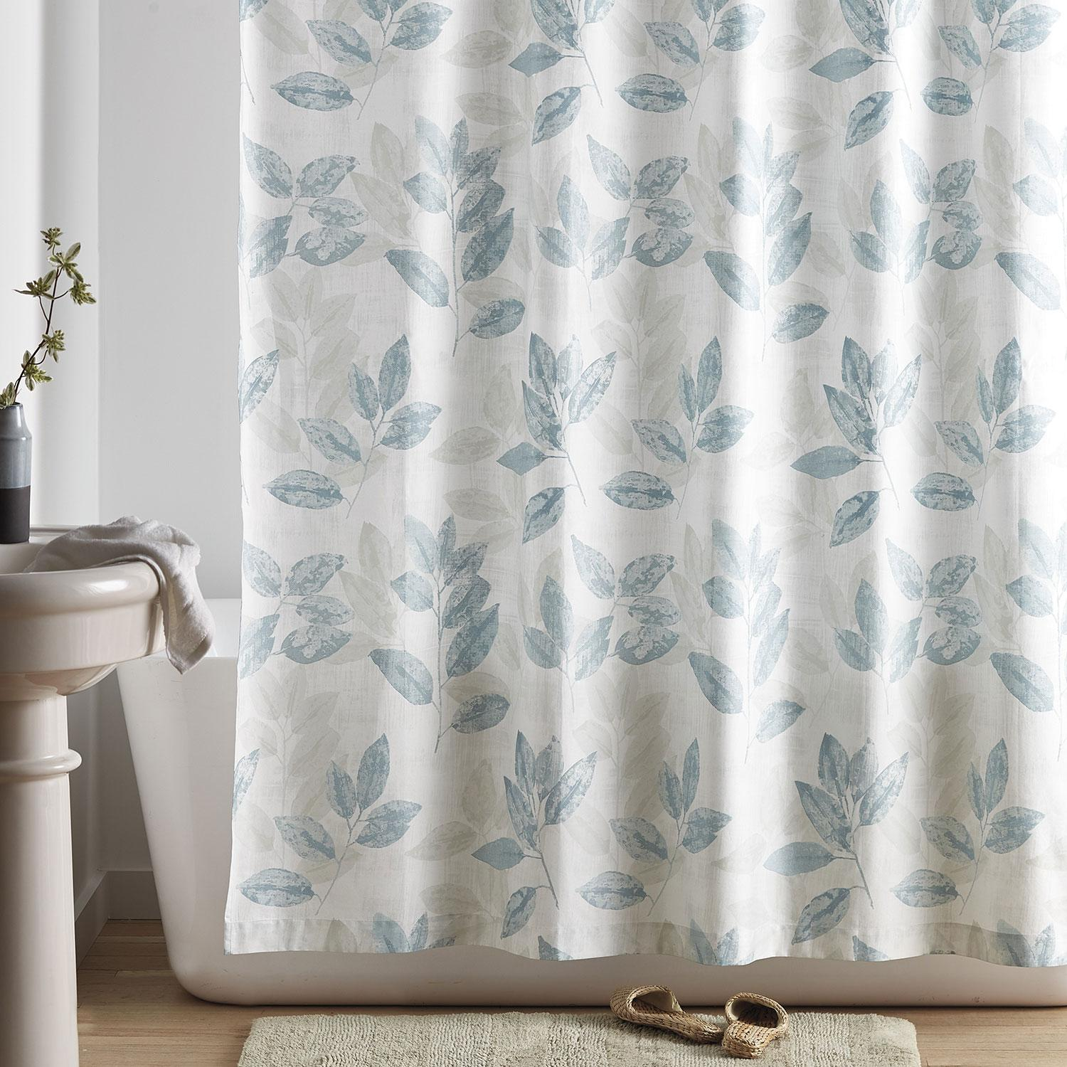 Turner Leaf Shower Curtain The Company Store Outdoor Cushions