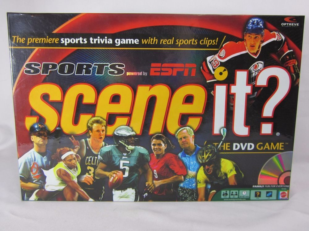 SCENE IT Sports ESPN Board DVD Game 2005 Basketeball
