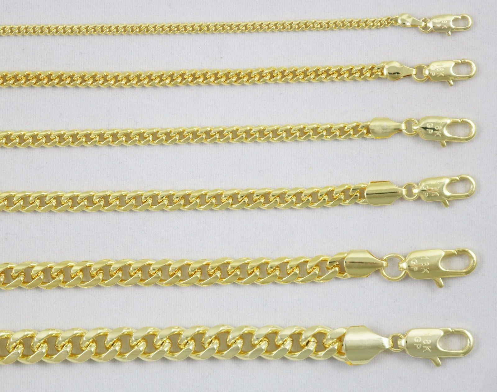 5 99 18k Gold Plated Curb Cuban Link Chain Necklace Bracelet 3mm 4mm 5mm 6mm 8mm 10mm Cuban Link Chain Necklaces Brass Chain Necklace Chain Necklace Womens