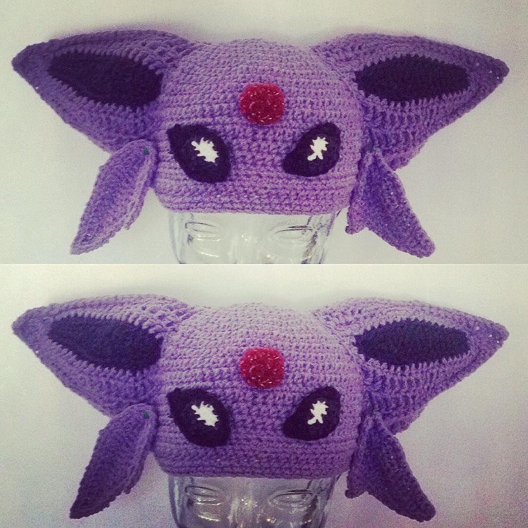 Finished #crochet #espeon #Pokemon #hat for @nellevator #halloween ...