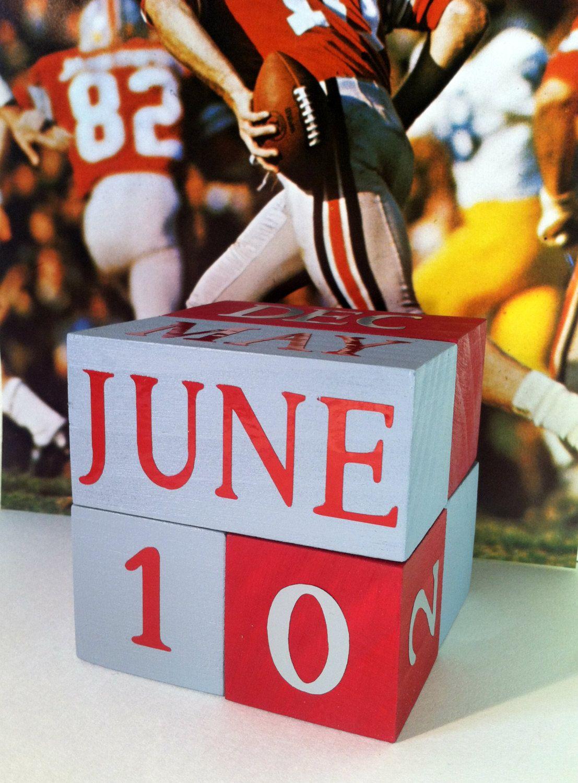 Osu perpetual wooden calendar go bucks ohio state buckeyes