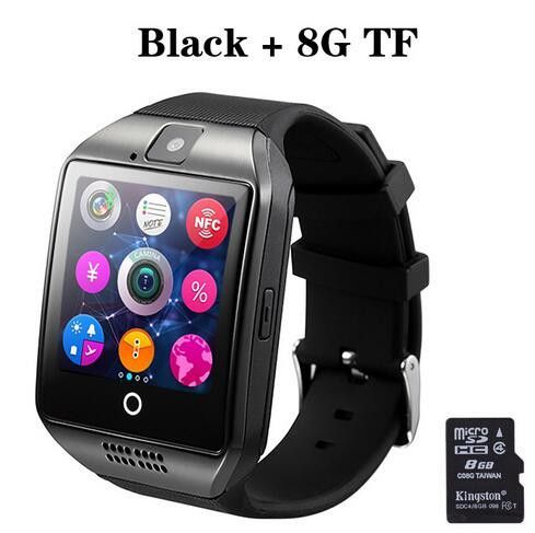 Q18 Passometer Smart watch with Touch Screen camera