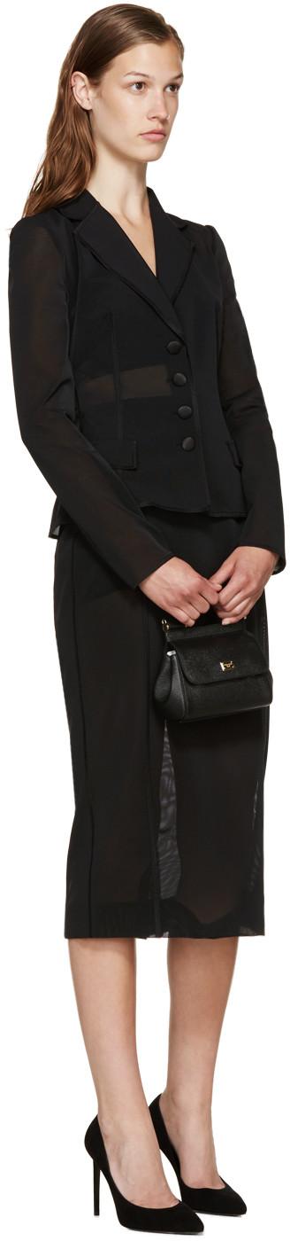 2bbca4c42d94 Dolce   Gabbana Black Micro Miss Sicily Bag