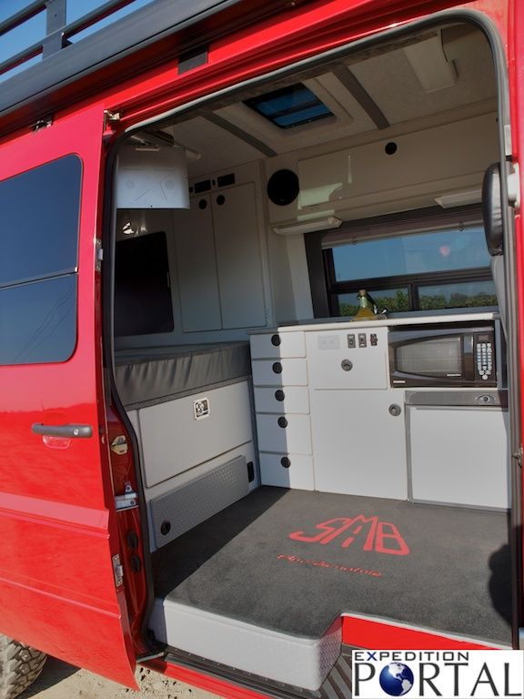Sportsmobile sprinter 4x4 expedition portal camper for Mercedes benz sprinter 4x4 motorhome