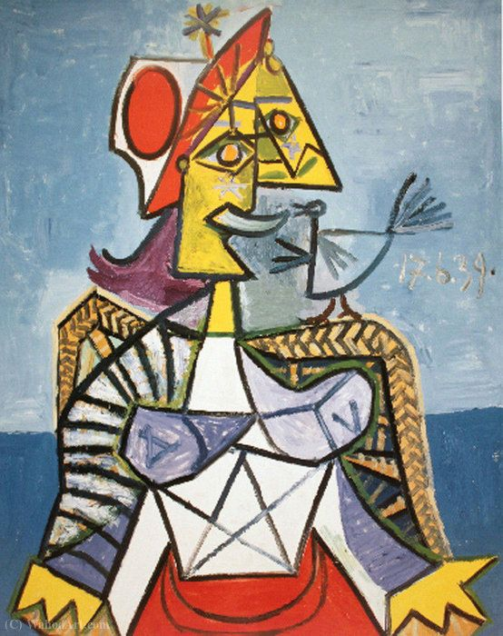 acheter tableau 39 la femme d oiseaux 39 de pablo picasso achat d 39 une reproduction jeanne la. Black Bedroom Furniture Sets. Home Design Ideas