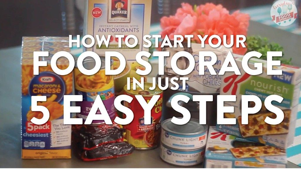 Food storage for beginners how to start your food storage