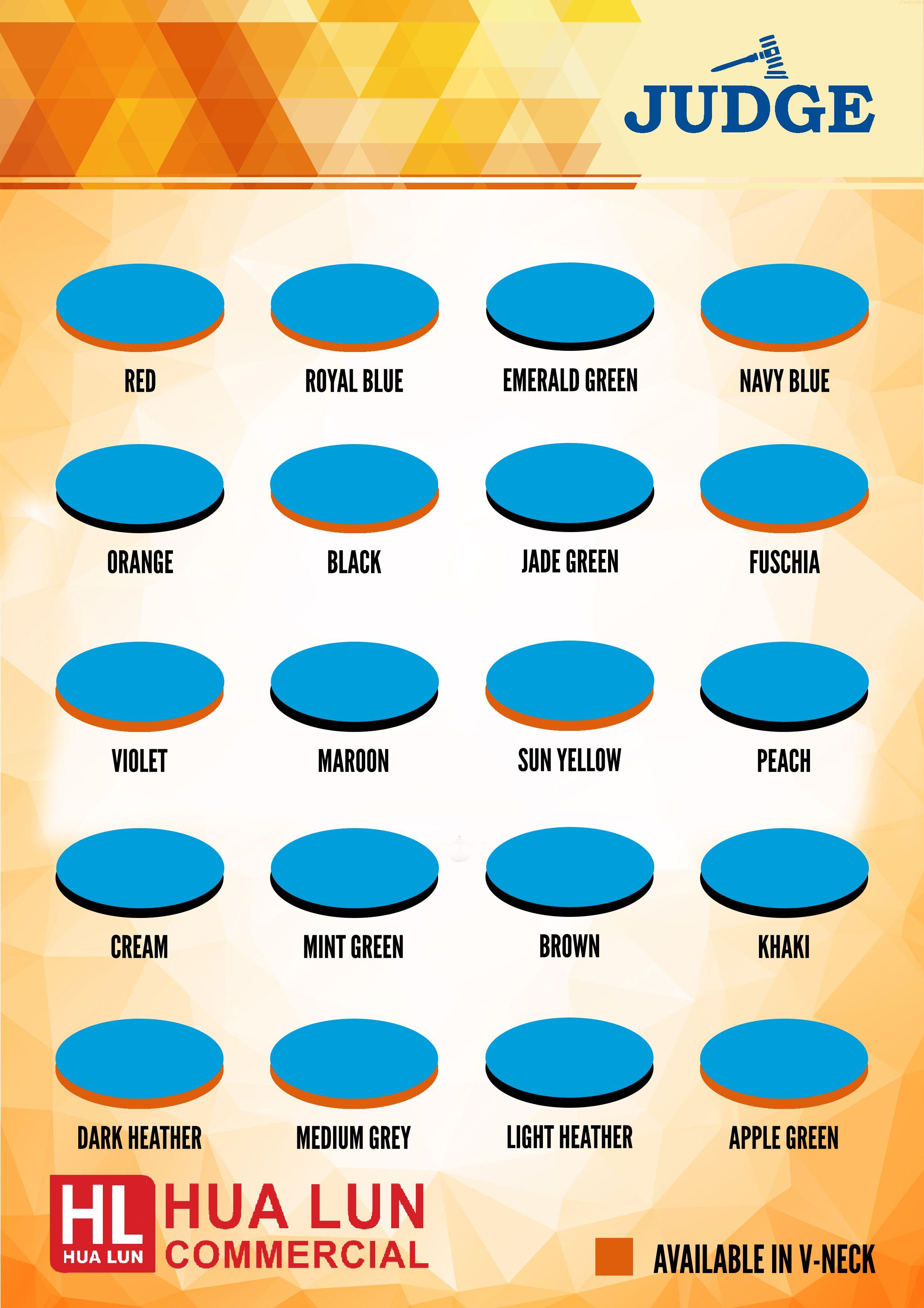Judge color chart shirt catalogs pinterest colour chart judge color chart nvjuhfo Image collections
