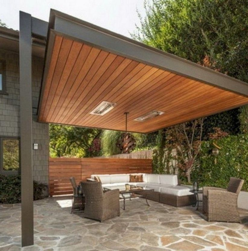 Pergola Ideas On A Budget: 46 Latest Deck Canopy Exterior Remodel Ideas On A Budget