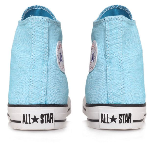Converse Ct Wash Neon Hi Blue ($44) ❤ liked on Polyvore featuring shoes, sneakers, blue, converse, converse high tops, canvas sneakers, high top sneakers, converse shoes y blue sneakers
