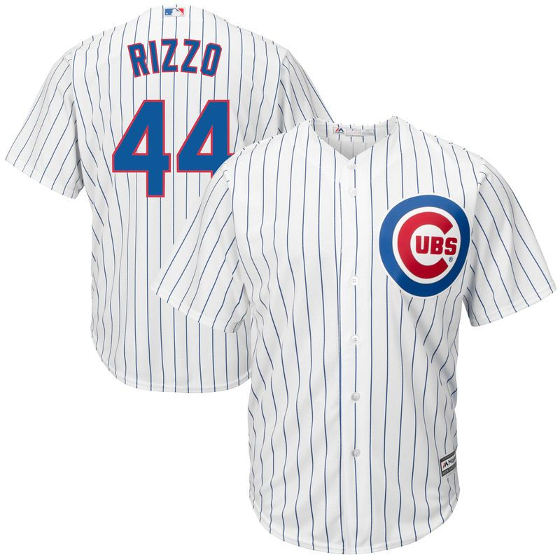 5b2fc7dec Anthony Rizzo  44 Chicago Cubs Majestic Big   Tall Cool Base Player Jersey  - White