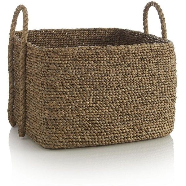 Crate & Barrel Tyler Square Basket with Rope Handle (1.199.935 IDR ...