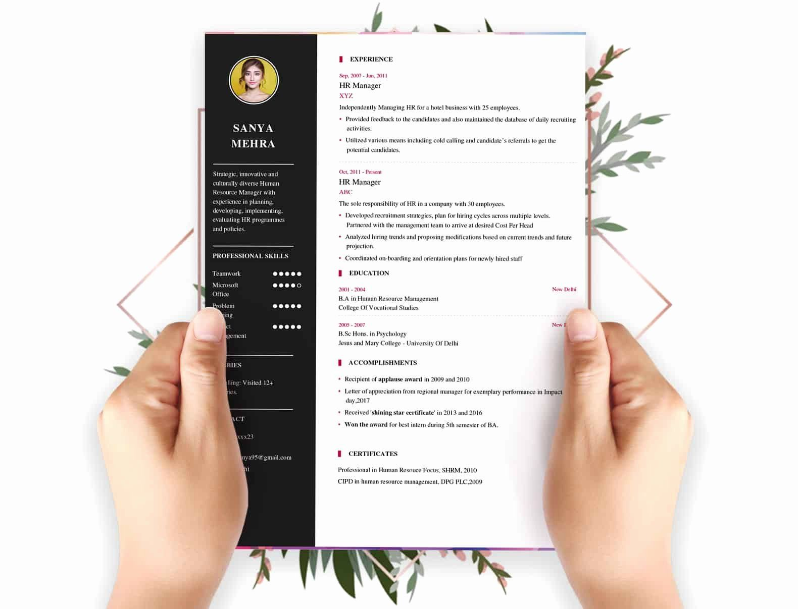 Resume Template with Photo Luxury Resume Builder My Resume