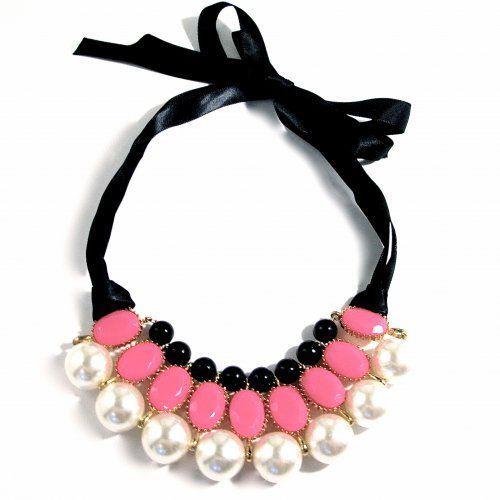 Halsband+sidenband,+rosa