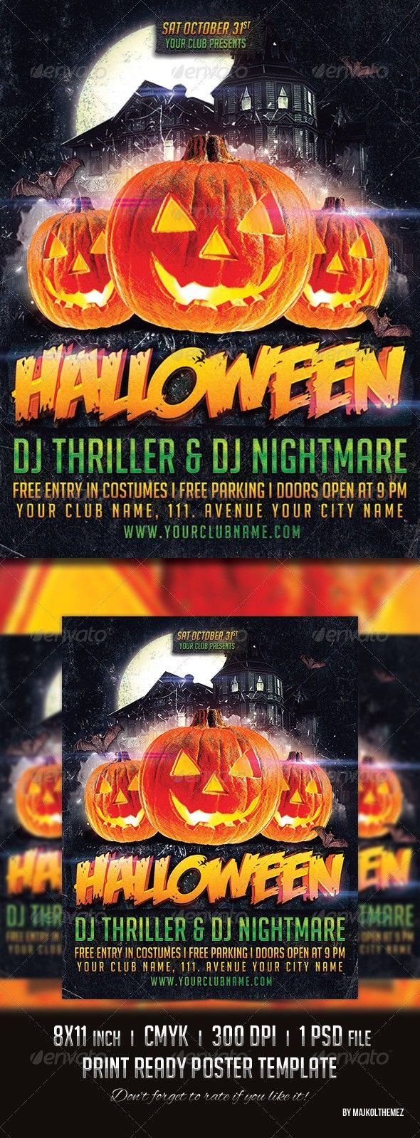 club flyer costume flyer costume poster full moon halloween
