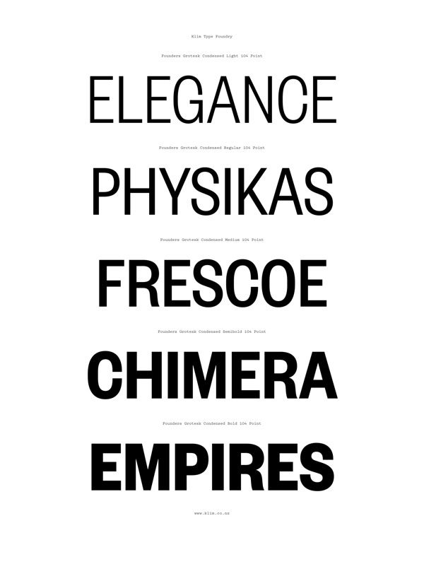 Founders Grotesk Condensed on Typography Served | type