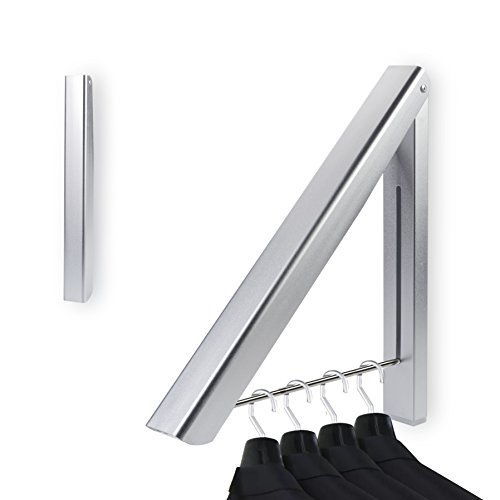 Bedee Wall Mounted Clothes Airer Washing Line Coat Dryer Folding Pull 1 Rack For S In 2020 Wall Mounted Clothes Airer Wall Mounted Coat Hanger Collapsible Clothes Rack