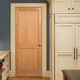 natural wood interior doors stained to match baseboard and window ...
