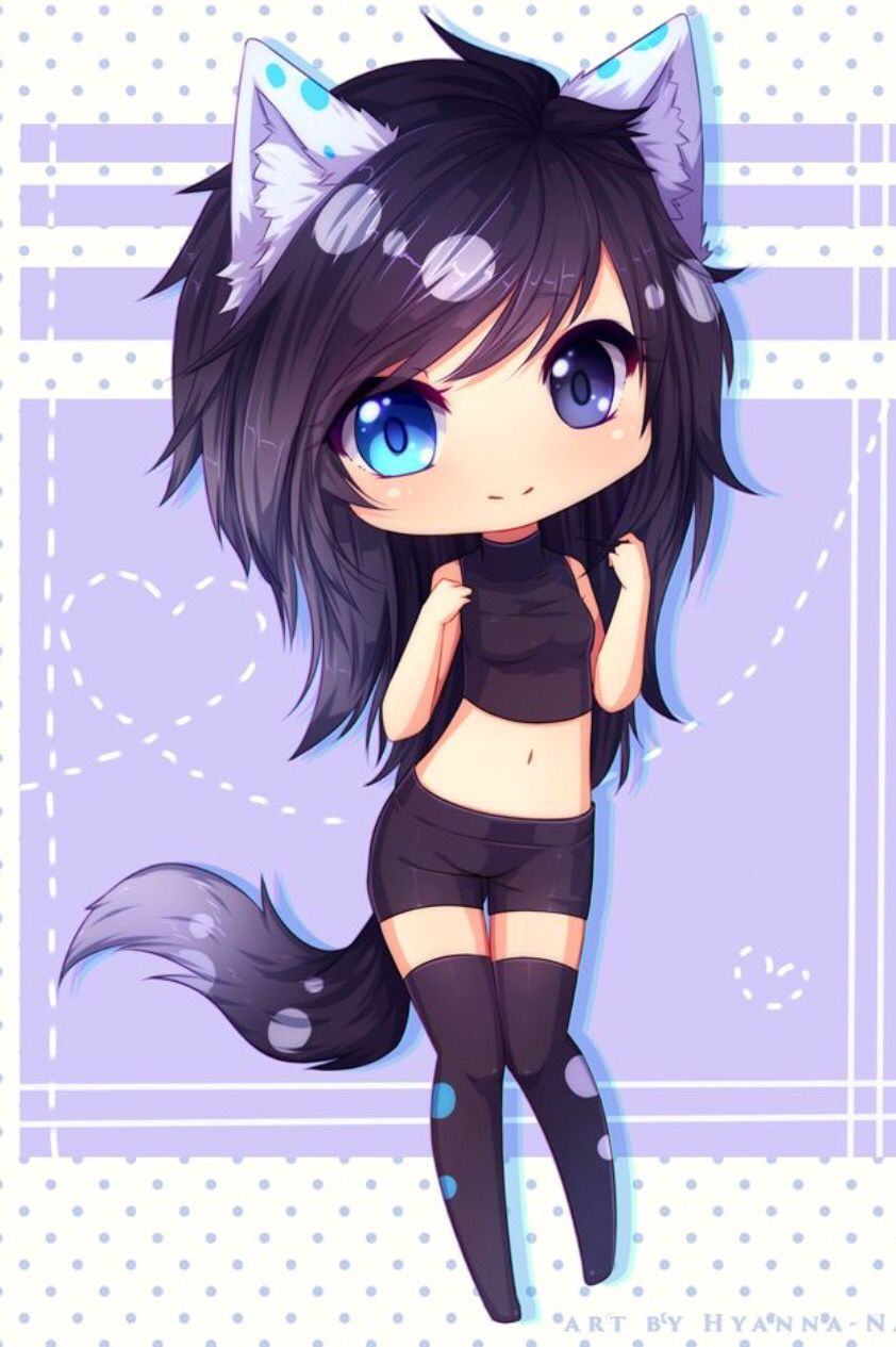 35+ Ideas For Anime Kawaii Wolf Girl Cute Drawings