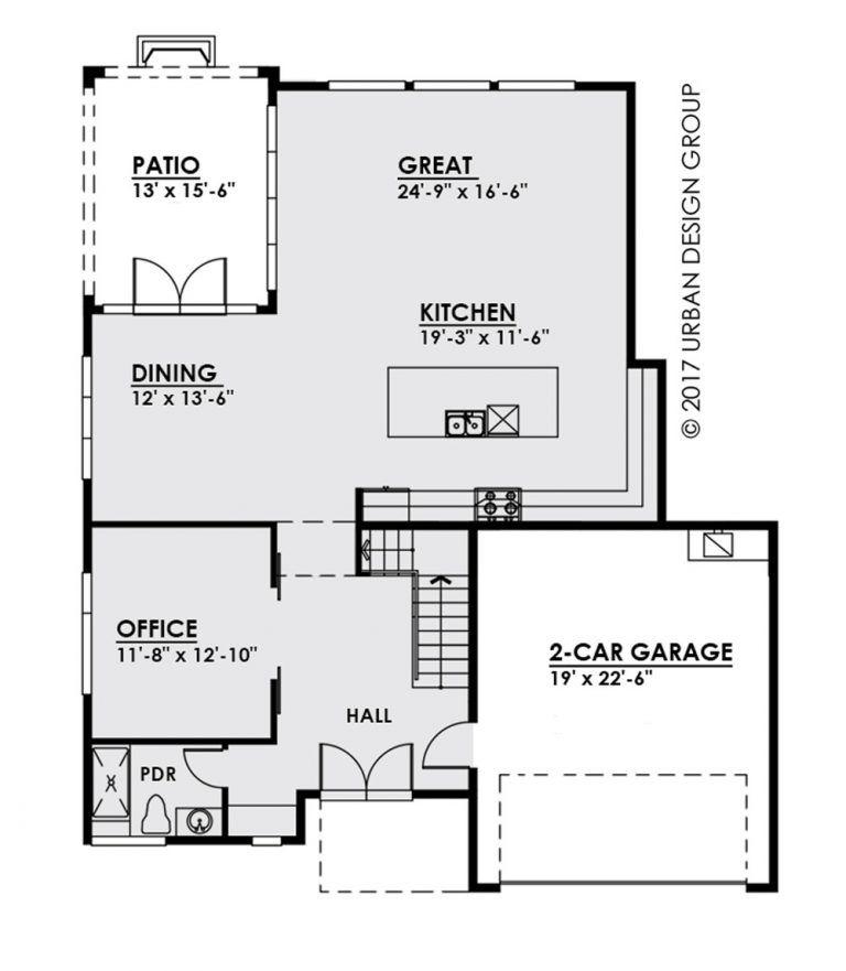 Plano Planta Baja De Casa Moderna De Tres Pisos Plano De Vivienda Casa Moderna Plano De Arquitecto