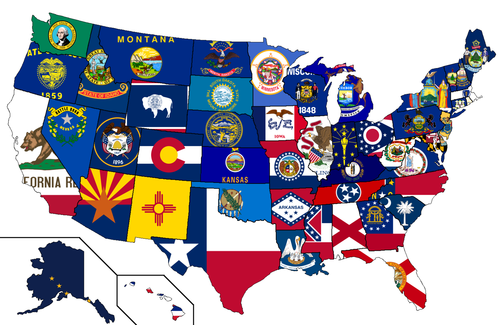 United States Flag Map By HeerSander On DeviantART Maps - Us map american flag