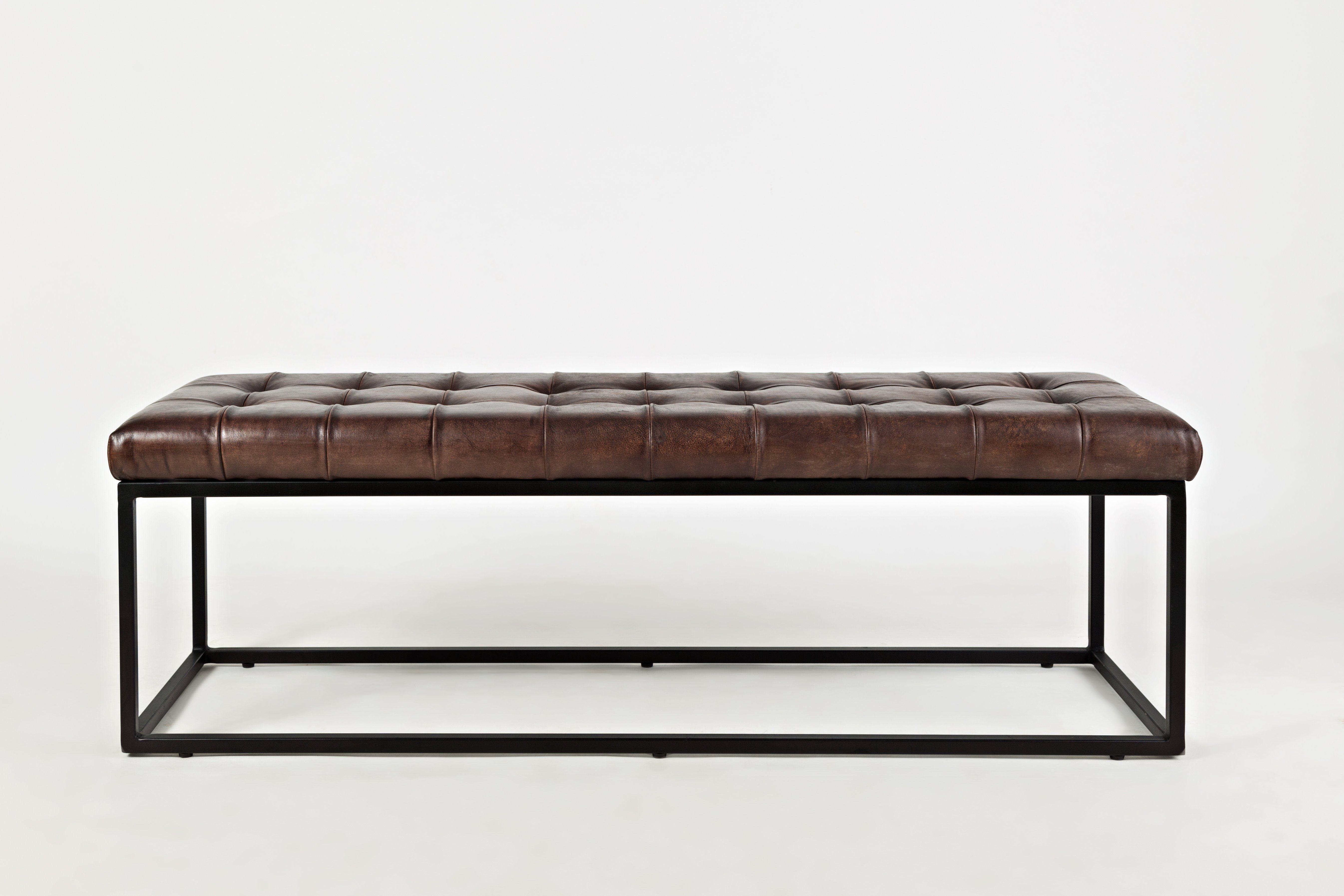 Leather Upholestered Metal Ottoman Dark Sienna Leather Ottoman Metal Ottomans Living Room Leather [ 3588 x 5383 Pixel ]