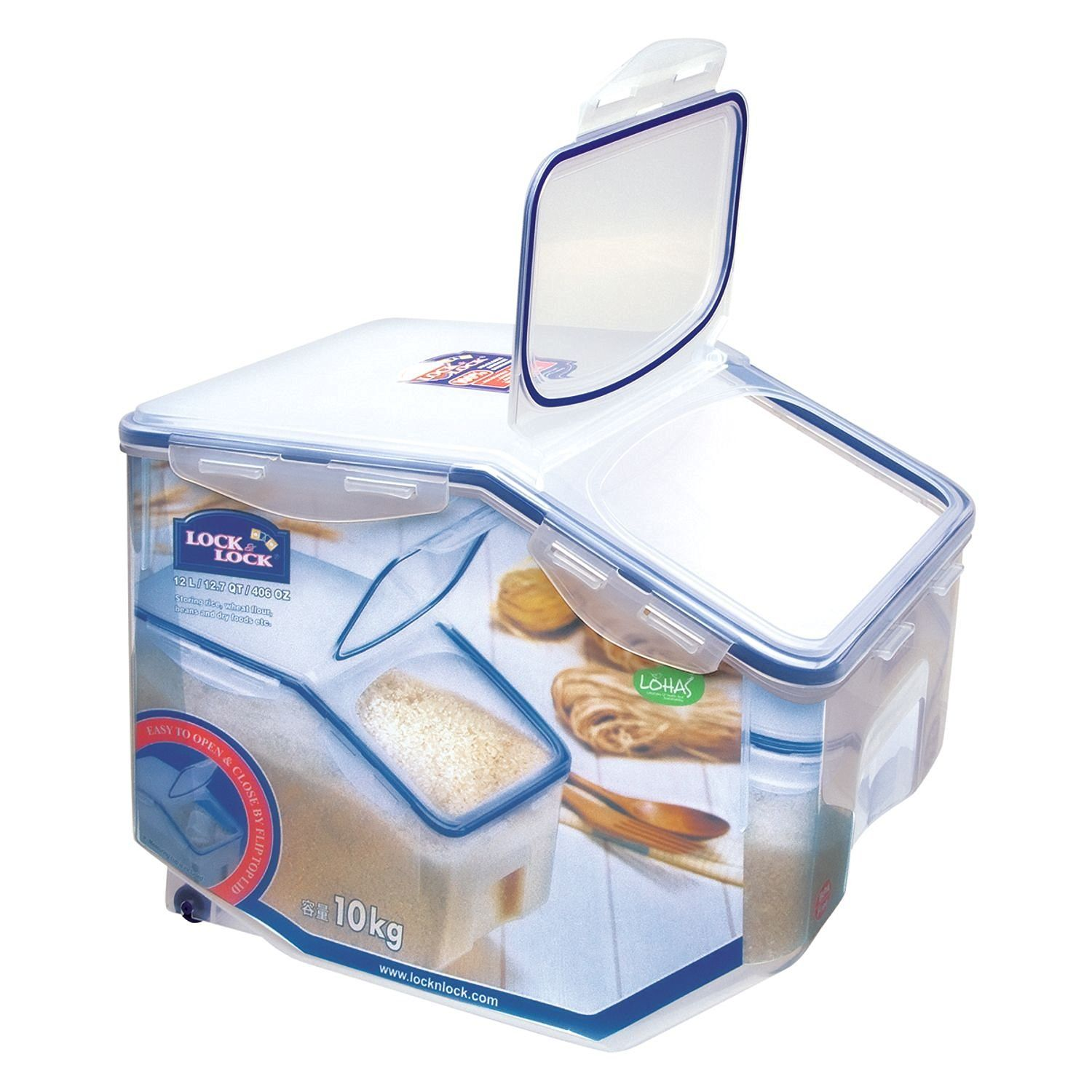 Lock & Lock Kitchen Caddy HPL510 Multi-Use Food Container Box 12.0 L ...